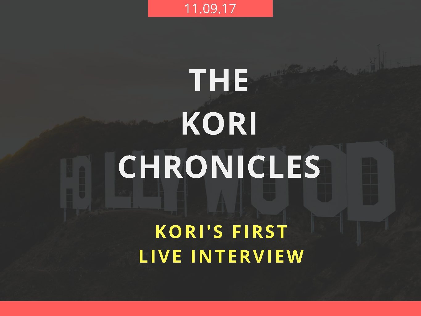 Kori's First Live Interview